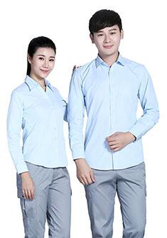 衬衫浅蓝浅蓝色条纹60棉80双织长袖衬衫