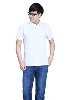 白色POLO衫T恤竹炭纤维