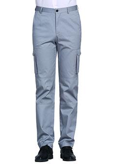 银灰色贴兜多袋工裤