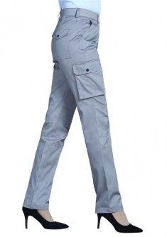 银灰色立兜多袋工裤